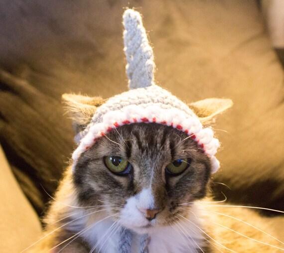 Hai Kostüm Hut Für Katzen Bereit Schiff Katze Häkelmütze   Etsy