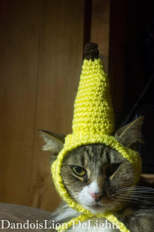 Custom Crochet Banana Hat For Your Pet Custom Order Cat Etsy