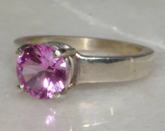 Pretty pink sapphire ring.
