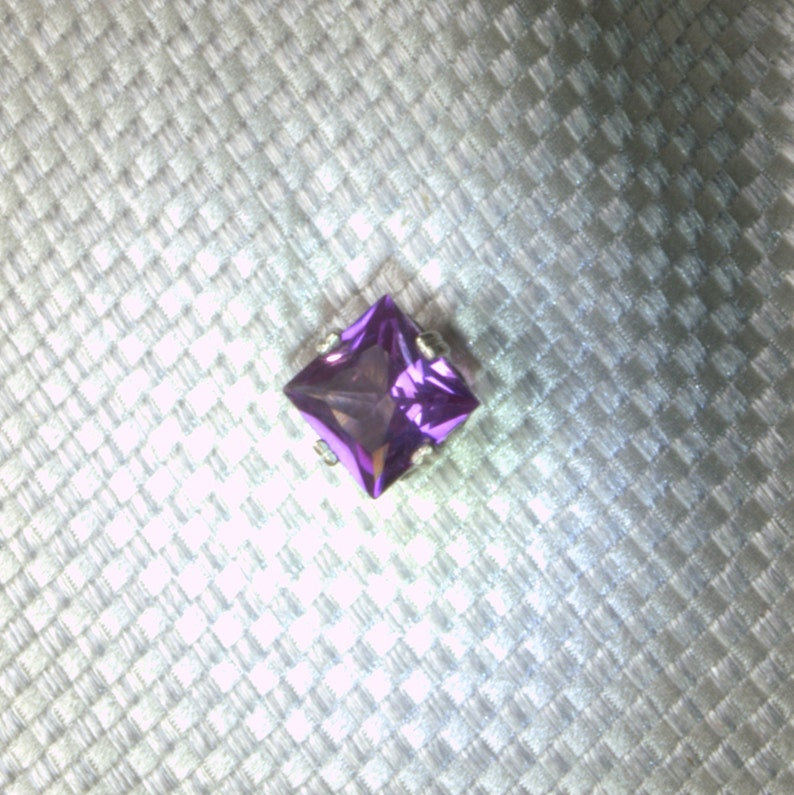 Large PurpleAlexandrite Sapphire and Silver Tie Tack. image 0