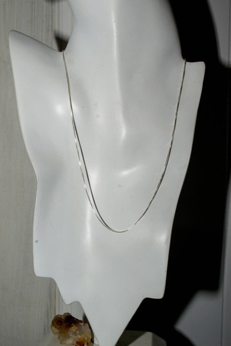 Sterling light box chain. 18 inches. image 0