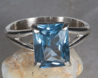 Sky Blue Sterling Silver Ring