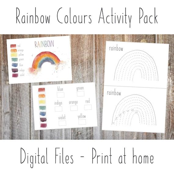 DIGITAL Rainbow colours educational pack nature study