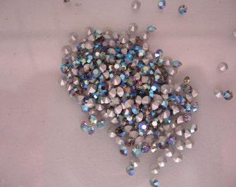 Vintage Swarovski Black Diamond AB Rhinestones pp15 ss7 Article 1100 2.10-2.20 QTY - 12
