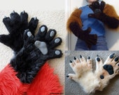 Custom Furry Gloves - 5 finger anthro style - Made to Order