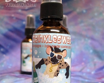 Crinkleswag - 2 oz Fursuit Spray, champagne + powder scent