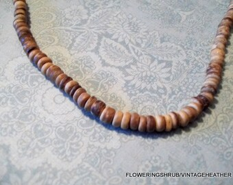 Vintage Puka Bead Beach Necklace