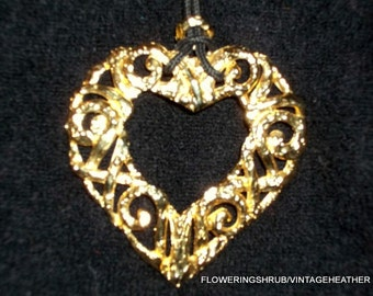 Vintage Heart Corded Necklace