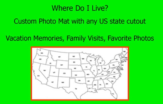 US State Map Cutout 8