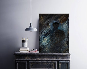 The Light Shines In The Darkness     John 1:5    Fine art print, original paintings, impressionism, living room entryway art