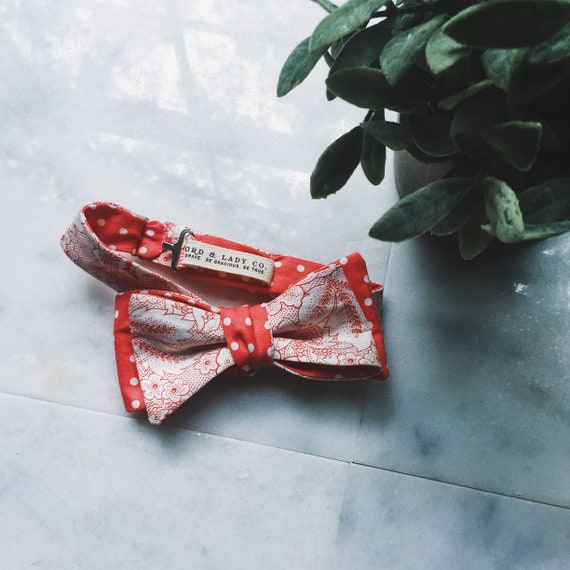 Bow Tie || Pembrokeshire || Lord and Lady|| wedding bow ties men/'s bow tie groomsmen gifts for him prom handmade weddings cotton ties