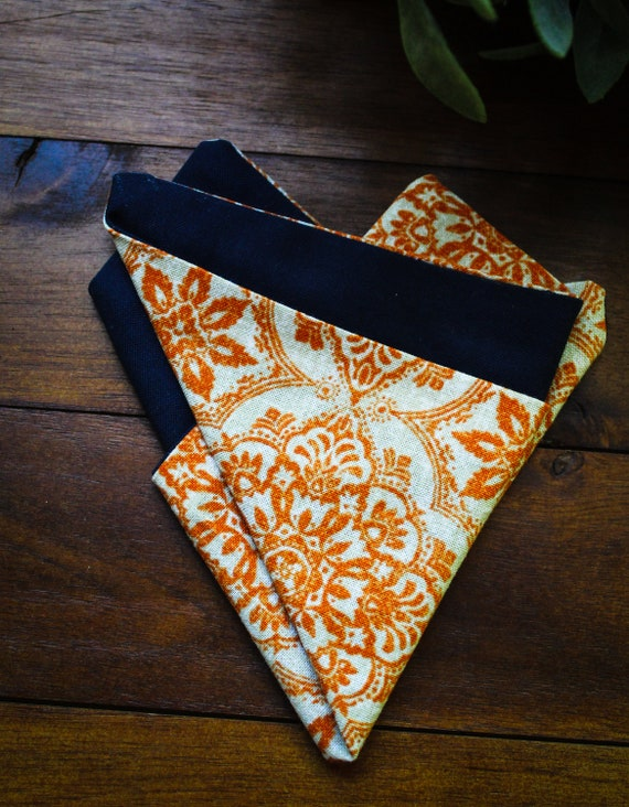 Pocket Square || Explorer || Lord and Lady|| Sustainable Design Groomsmen Gifts for Him Casual Pocket Square Cotton Pocket Squares