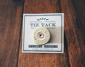 """Shotgun Tie Tack     """"For Tactical Measures.""""    Lord and Lady    Groomsmen Gifts, Wedding Gifts for Groom, Dapper Mens Accessories"""