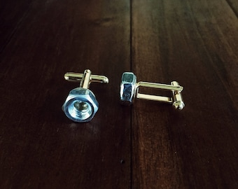 Cuff Links    Nuts & Bolts    Lord and Lady    Groomsmen Gifts, Gift Box, Wedding Gifts, Gifts for Him, Best Man Gift, Handmade Weddings