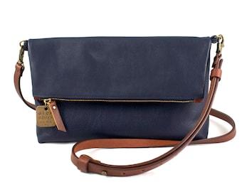 "Medium Leather Crossbody Purse – ""The Betty"" (multiple colors)"