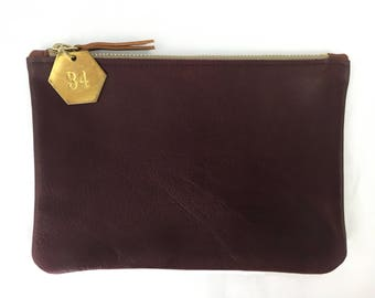 Medium Leather Clutch / Pouch (multiple colors)