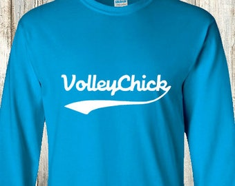 Volleyball Long Sleeve shirt - VolleyChick Swoosh