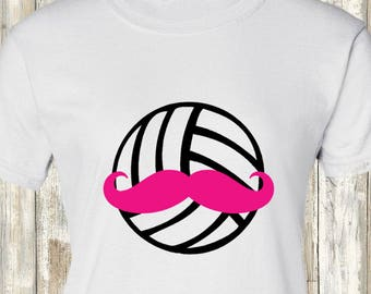Volleyball Mustache Shirt - all sizes