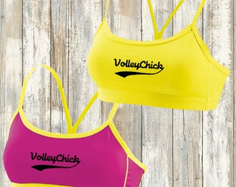 Volleyball 2for reversible bra top
