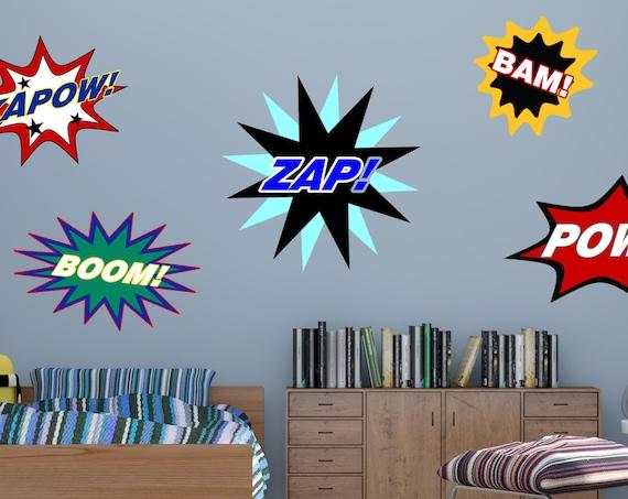 Superhero Words, Superhero Action Words, Bam, Pow, Zap, Superhero Words