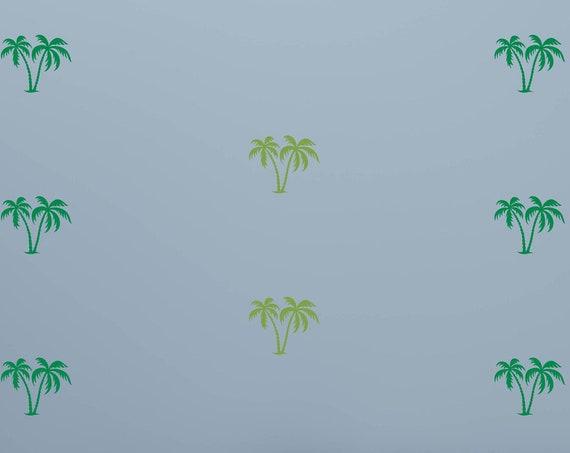 Mini Palm Trees Wall Decal-Palm Trees Decal-Palm Trees Vinyl-Tropical Trees-Coconut Palms-Palm Fronds-Beach Decals-Small Palm Trees
