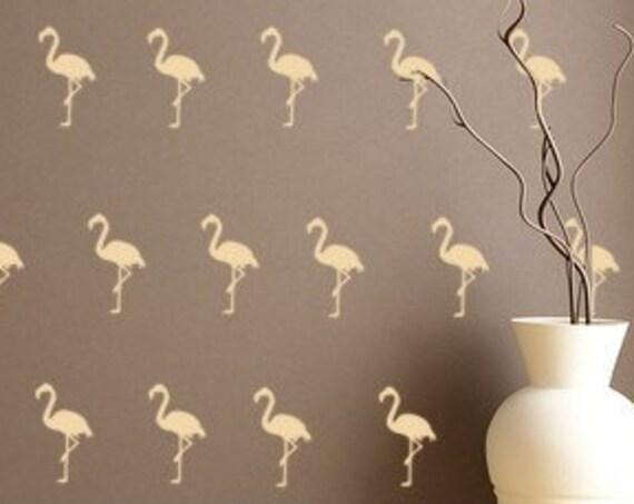 Flamingo Wall Decals-Pink Flamingo Bird Decals-Tropical Bird Decals-Beach Decals-Wall Decals-Beachy Vinyl Decals-Tropical Birds-Bird Sticker
