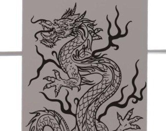 Asian Dragon Vinyl Decal Tattoo Style-Feng Shui-Vinyl Wall Art