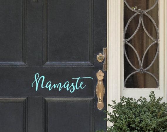 Namaste Front door decal-Namaste decals-Welcome Door Decal