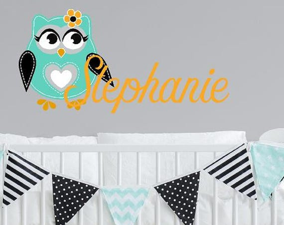Teal Owl with Custom Name