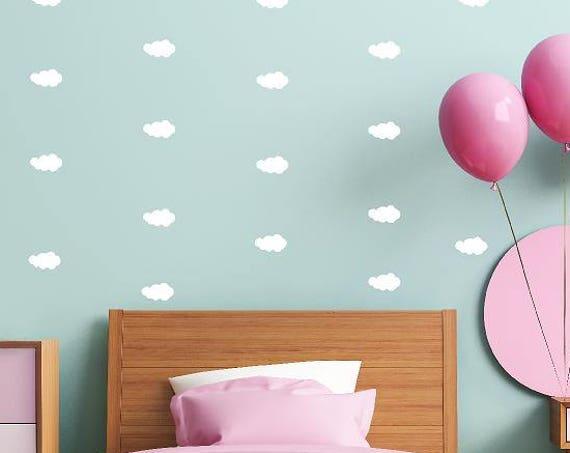 Mini Clouds, Cloud decals, Mini Cloud wall decor