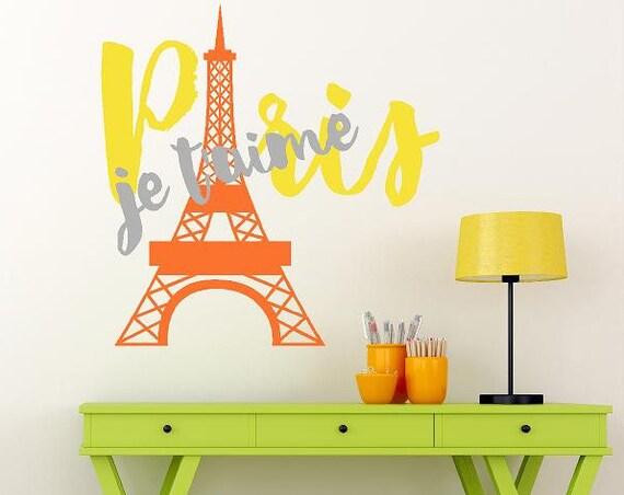 Eiffel Tower Wall Decal, Paris Wall Decal, Paris Je Taime, Paris is Always a Good Idea, C'est La Vie wall vinyl