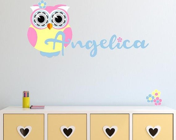 Pink Owl with Custom Name
