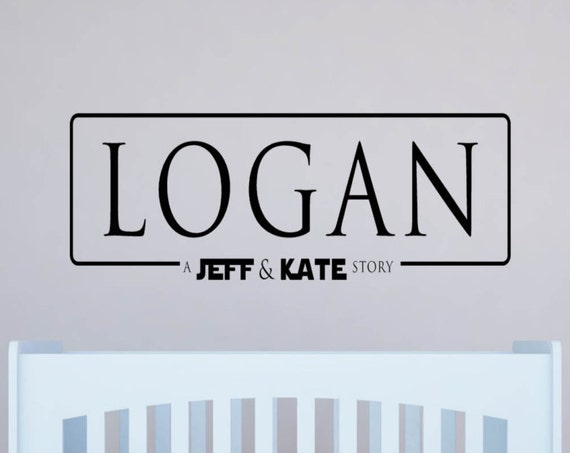 Rogue One decal, Star Wars style decal, Star Wars style name, boys decals, Jedi Name, girls name decal, nursery decals