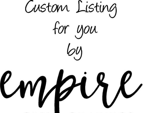 Custom listing for lindsaylou