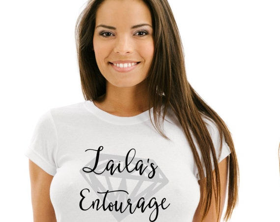 Bridal Entourage, Personalized Bachelorette tshirt, bachelorette party, Bride tees, Team shirts, bridal party gifts, bachelorette gift