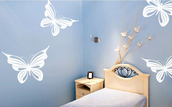 Butterfly Decals Vinyl Wall Art 4 Pack