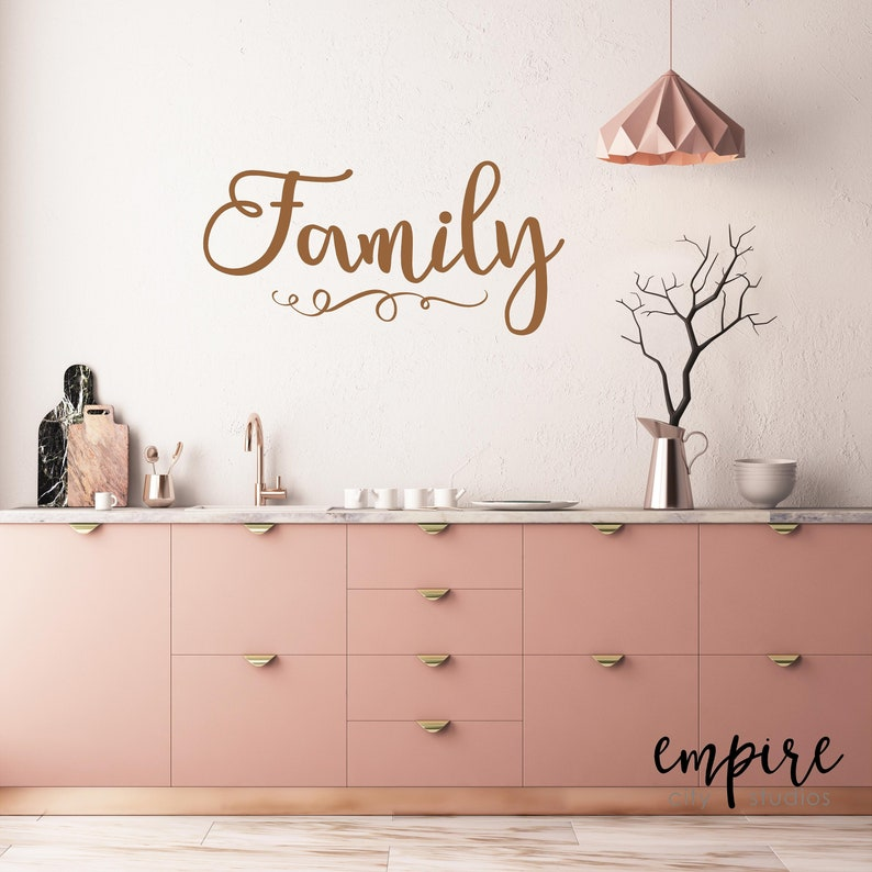 Family Wall Decal-Family Vinyl Decal-Home Decor-Family Wall image 0