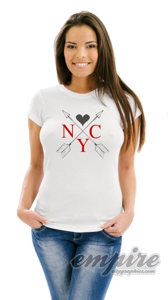I Love NY womens tshirt, Love NYC tee, Love arrows womens tee, great Mothers Day gift