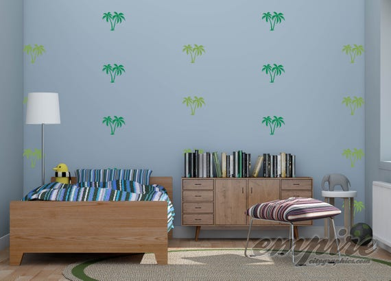 Mini Palm Trees Wall Decal-Palm Trees Decal-Palm Trees Vinyl