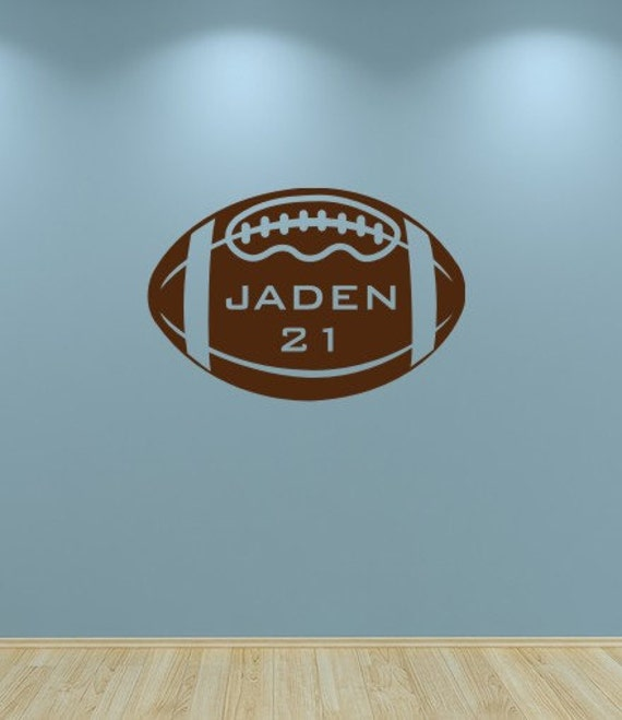 Football Decal, Kids Wall Vinyl Football Sports Decal Personalized Boys Wall Decor
