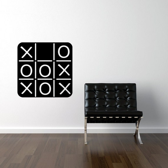Tic Tac Toe Chalkboard Decal Tic Tac Toe Game, Chalkboard wall decal, Kids Chalk board vinyl decal