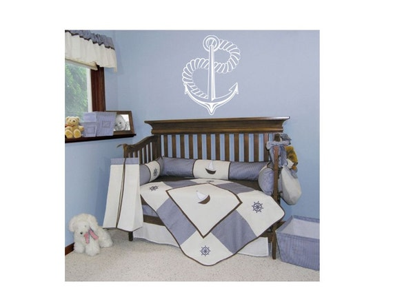Anchor with Rope Decal Nautical Wall Art