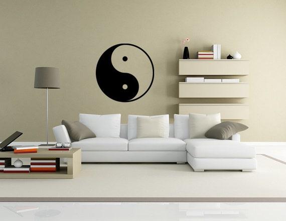Ying and Yang Vinyl Decal Wall Art Spiritual decals feng shui