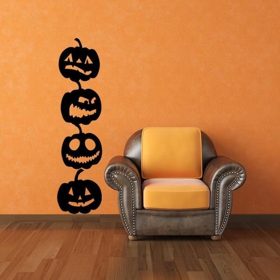 Pumpkin Vinyl Wall Art Decals 4 Pack Halloween Decor Pumpkin Decals Halloween Decals