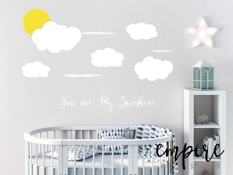 You are My Sunshine Wall Decal-Clouds Wall Decals-Clouds and image 0
