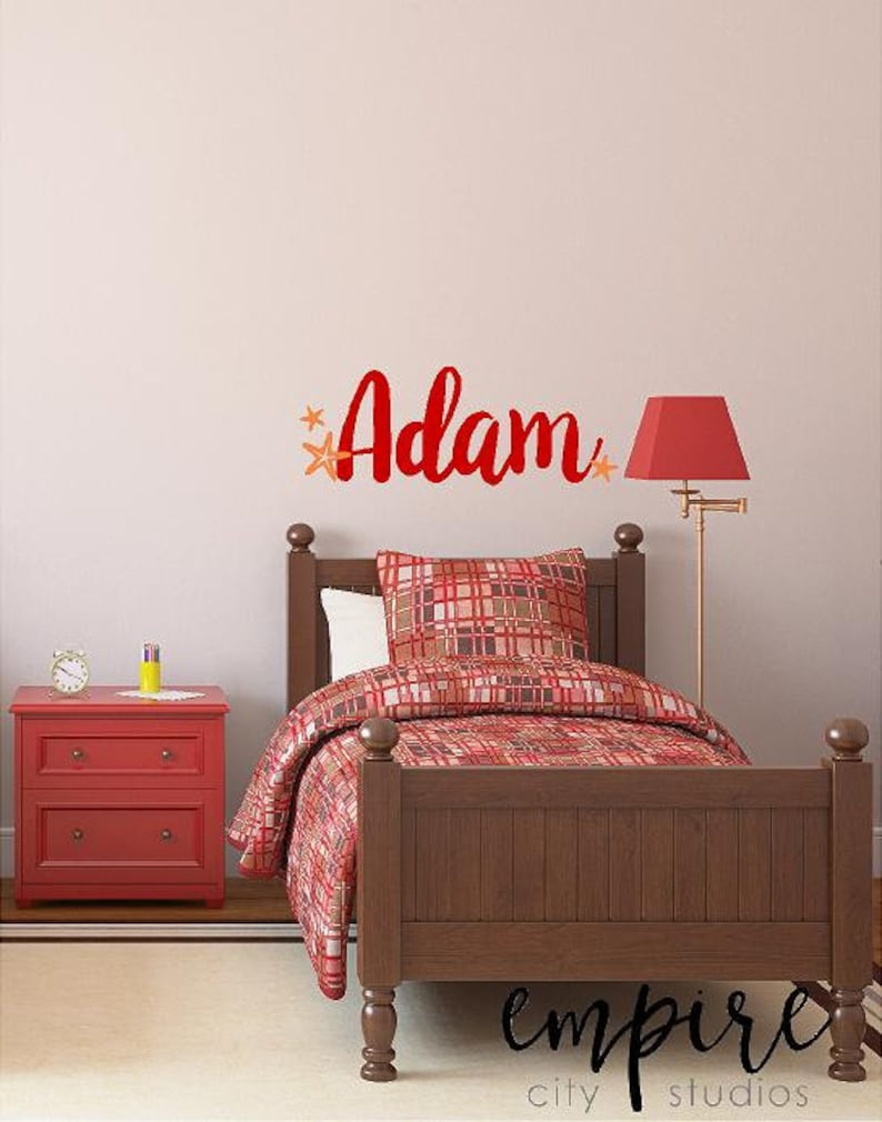 Starfish Name Decal Star Fish Decals Boys Starfish Name image 0