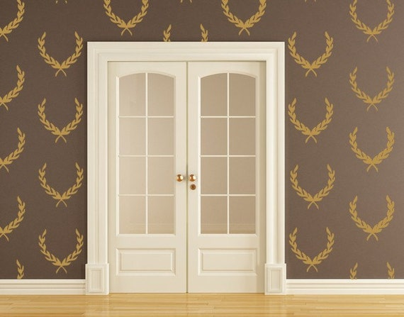 Laurel Wreath Decals Vinyl Decals Wallpaper Pattern Crest