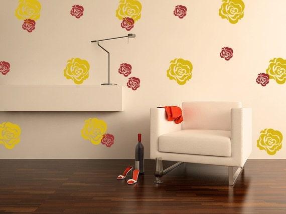 Roses Vinyl Decals Circles 2 colors