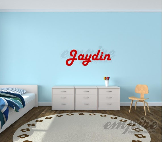 Boys name decal, name decals, boys nursery decals, nursery wall decals, Retro decals