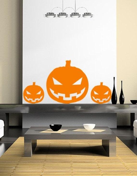 Halloween Pumpkin Pack Pumpkin Decals Stickers Halloween Decor Wall Art